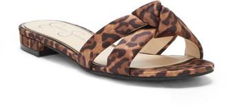 Jessica Simpson Alisen Crystal Embellished Slide Sandal