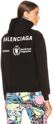 Balenciaga Shrunk Hoodie in Black | FWRD