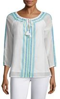 Vineyard Vines Embroidered Tunic Top