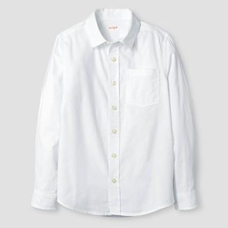 Cat & Jack Boys' Long Sleeve Button-Down Oxford Shirt - Cat & JackTM