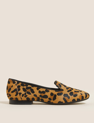 Marks and Spencer Leather Square Toe Pumps