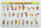 Painless Learning Sign Language Alphabet Placemat