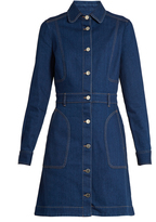 Stella McCartney Long-sleeved denim dress