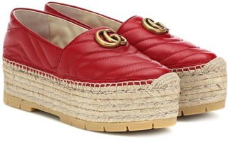 Gucci Marmont Platform leather espadrilles