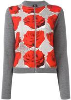 Paul Smith rose print cardigan