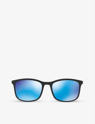 Prada Linea Rossa PS01TS rectangular rubber sunglasses