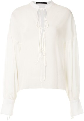 Eva Silk Puff Sleeve Blouse