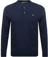 C.P. Company Long Sleeved Polo T Shirt Blue
