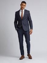 Burton Menswear London Burton Grindle Check Slim Suit Jacket - Navy