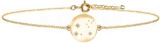 No 13 Leo Zodiac Constellation Bracelet Yellow Gold & Diamonds