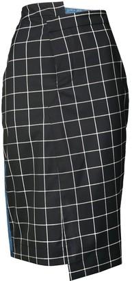 Monse Denim-Panel Pencil Skirt
