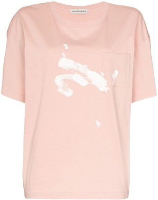 Vika Gazinskaya contrast print T-shirt