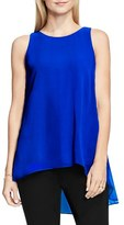 Vince Camuto Petite Women's Sleeveless Crepe High/low Top