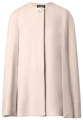 Rumour London Cora Wool & Cashmere-Blend Cape Coat In Cream