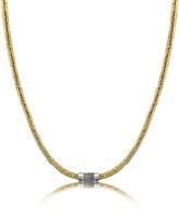 Orlando Orlandini Capriccio - Diamond 18K Gold Chain Snake Necklace