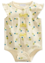 First Impressions Pineapple-Print Cotton Snap-Up Bodysuit, Baby Girls (0-24 months)