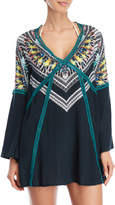 Red Carter Printed Cover-Up Tunic