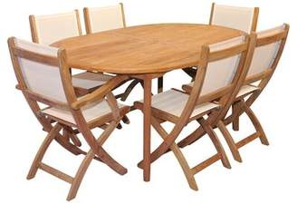 Regal Teak Thompson 7 Piece Teak Dining Set with Cushions