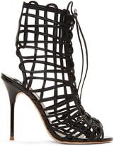 Sophia Webster Black Delphine Sandals