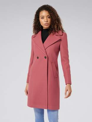 Forever New Ripley wool coat - Apricot - 6