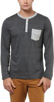 Aventura Outfitters Henley Full Sleeves With Contrast Pocket T-Shirt - L (AO107-L)