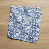 Crate & Barrel Mercato Indigo Dinner Napkin