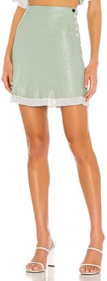 L'Academie The Olivie Glo Mesh Mini Skirt