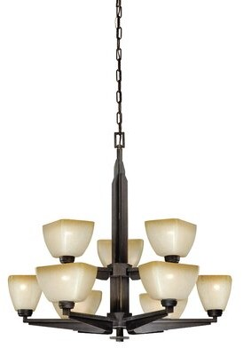 Millwood Pines Aanya 9 - Light Shaded Tiered Chandelier