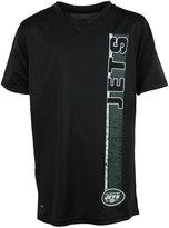 adidas Boys' New York Jets Shatter Text Dri-Tek T-Shirt