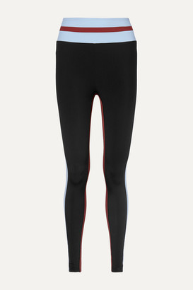 Vaara Faye Thermal Tuxedo Striped Stretch Leggings - Black