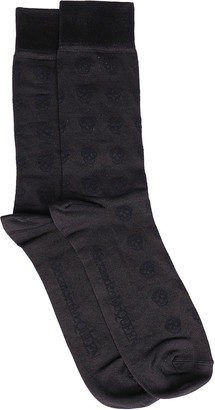 Alexander McQueen Black Silk Blend Socks