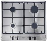 Belling GHU60GC 60cm Built-in Cast Iron Gas Hob - Stainless Steel