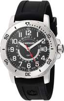 Wenger Men's 'Off Road GMT' Swiss Quartz Stainless Steel and Silicone Casual Watch, Color:Black (Model: 01.1342.101)