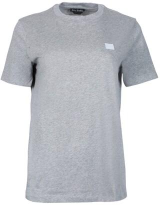 Acne Studios ellison face t-shirt light grey melange