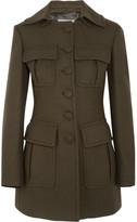 Prada Wool-blend Felt Coat - Army green