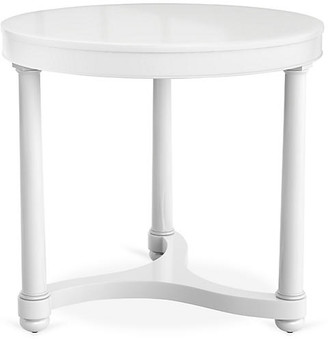Bunny Williams Home Gwendolen Lacquer Side Table - White