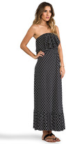 T-Bags LosAngeles Diamond Print Strapless Maxi Dress