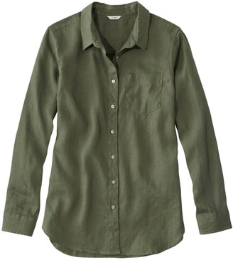 L.L. Bean Women's Premium Washable Linen Shirt, Tunic