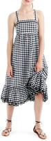 J.Crew Women's Eyelet Trim Puckered Gingham Sundress