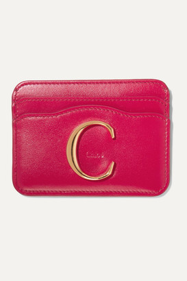 Chloé C Leather Cardholder - Red
