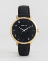 Nixon Arrow Black Leather Watch A1091-513
