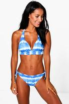 Boohoo Costa Rica Tie Dye Bahamas Plunge Bikini
