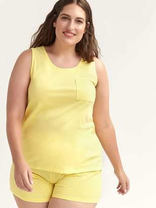 Solid Pyjama Cami with Patch Pocket - ti Voglio