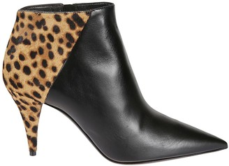 Saint Laurent Animal Print Ankle Boots