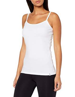 Trigema Women's Damen Spaghetti-Träger-Shirt Tank Top, White (weiß 001)
