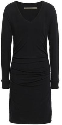 Enza Costa Stretch Cotton And Cashmere-blend Mini Dress