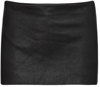 Ann Demeulemeester Low-rise leather miniskirt