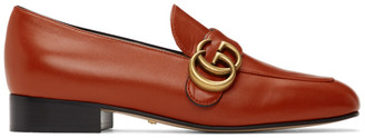 Gucci Orange Marmont Loafers