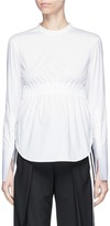 Neil Barrett Elastic waist poplin long sleeve top