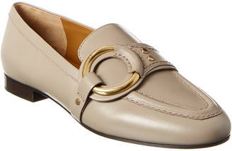 Chloé Demi Buckle Leather Loafer